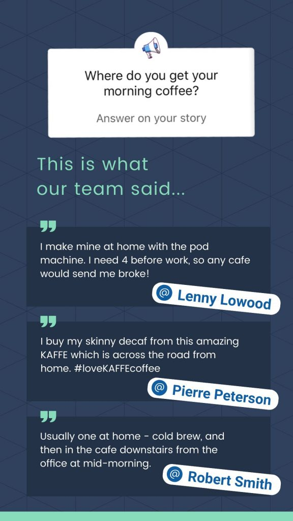 Linkedin Stories Template - Answer the Question of the day Sticker