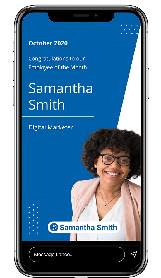 Linkedin Stories Template - Employee of the Month