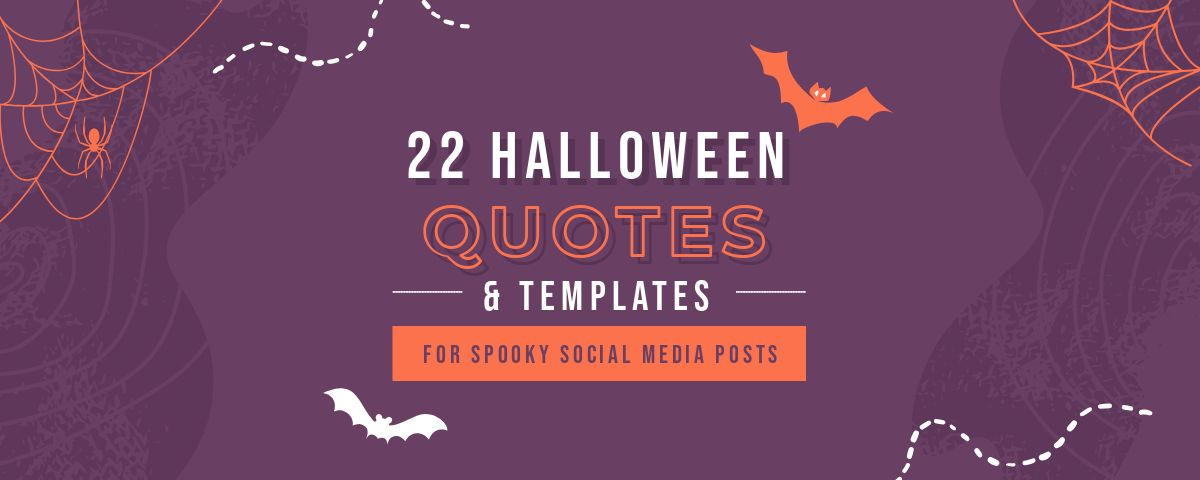 22 Halloween Quotes and free graphic templates