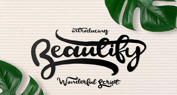 Beautify Free Font - 73 Best Free Fonts to Create Stunning Designs