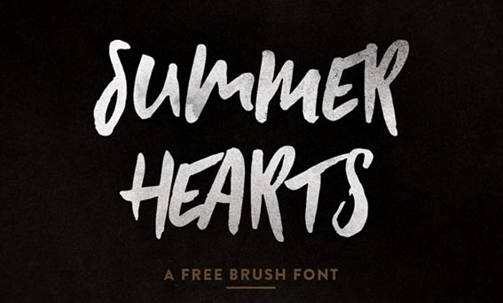 Summer Hearts Free Brush Font - 73 Best Free Fonts to Create Stunning Designs