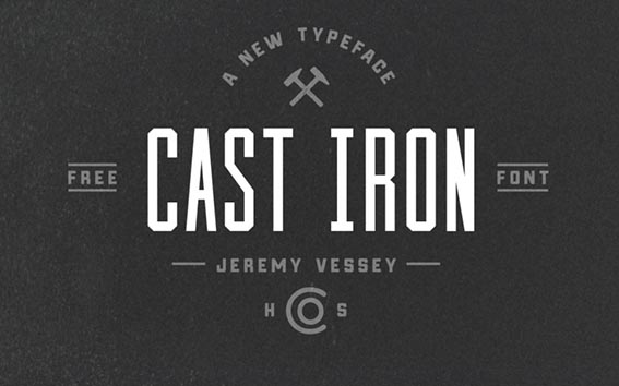 Cast Iron Free Font - 93 Best Free Fonts to Create Stunning Designs