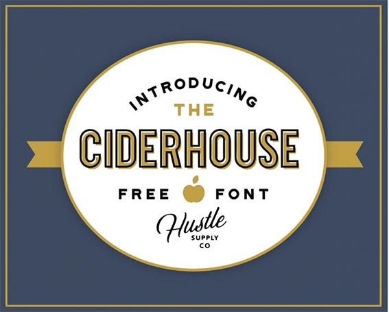 Ciderhoue Free Font - 93 Best Free Fonts to Create Stunning Designs