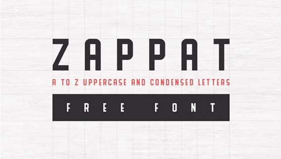 Zappat Free Font - 93 Best Free Fonts to Create Stunning Designs