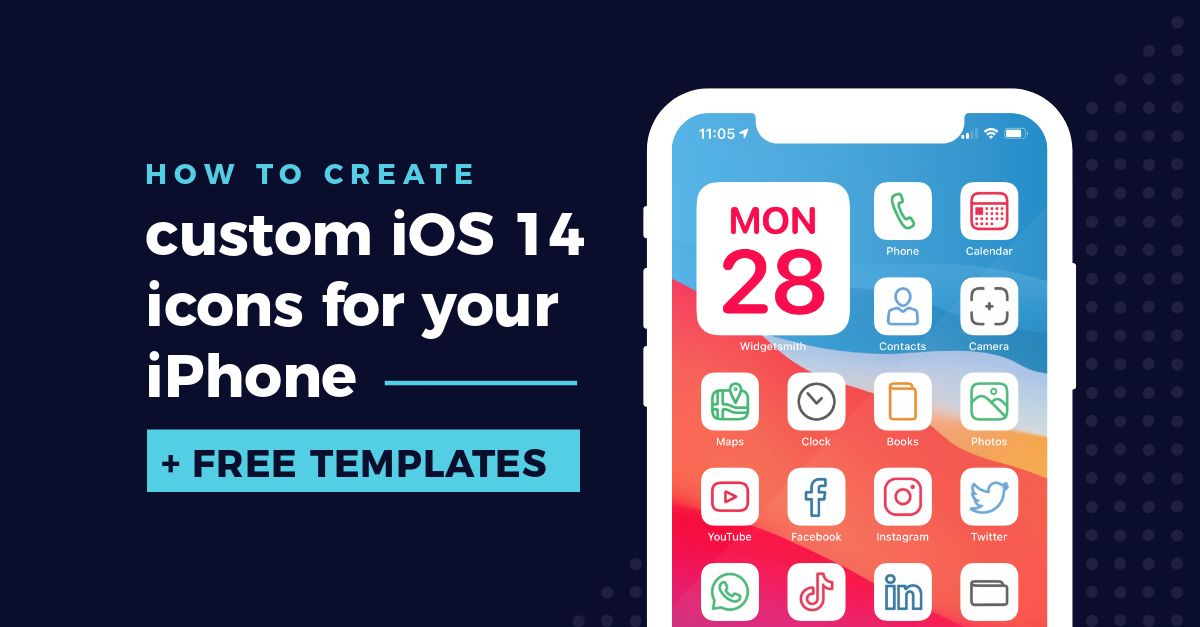 How To Create Custom Ios 14 Icons For Your Iphone Free Templates Easil