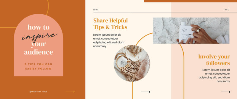 Free Carousel Post Templates - Terracotta & Neutrals 1 of 2