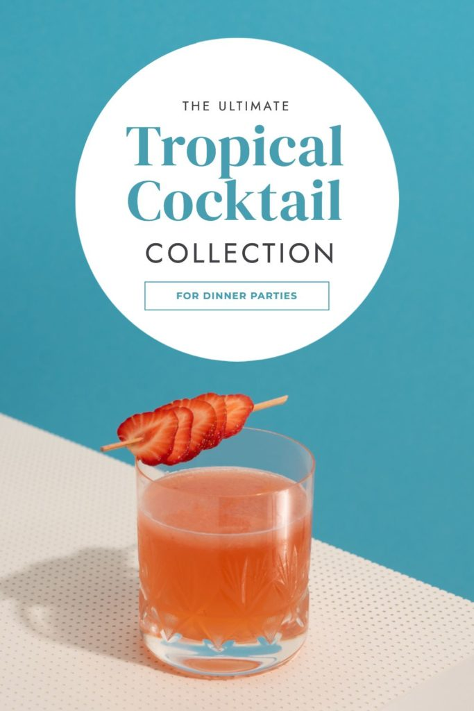 "Tropical Cocktail list: Hack Visual Design Series"": Pinterest Templates 10 Ways"