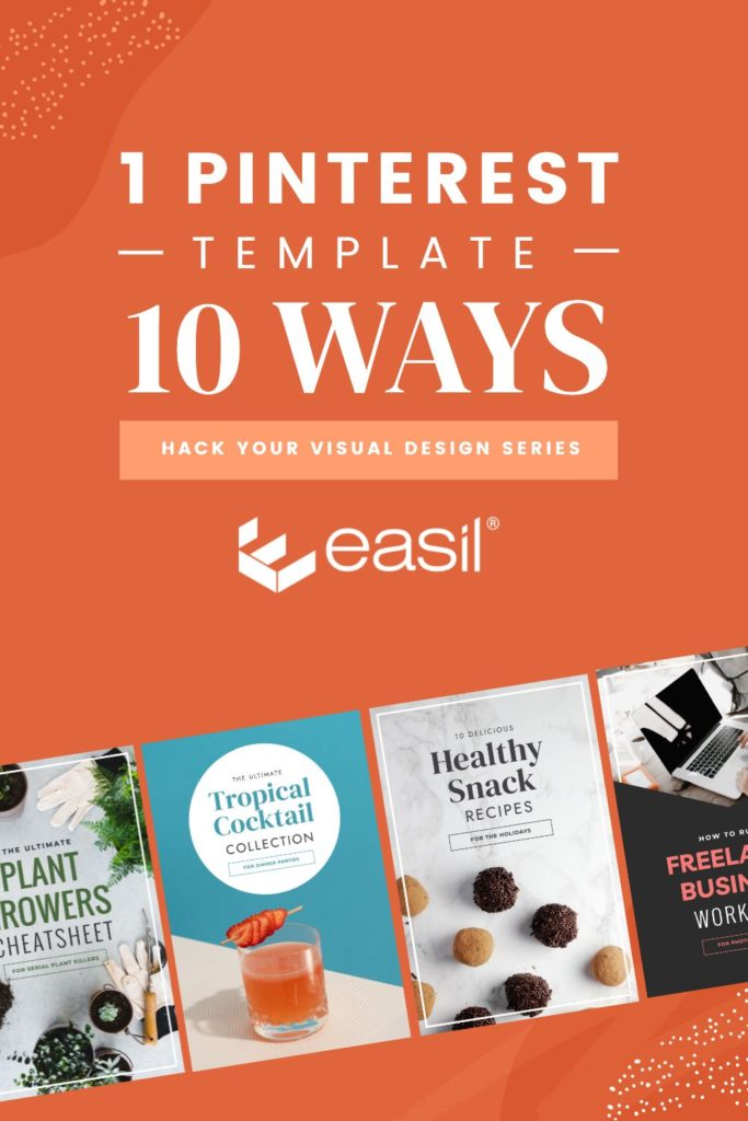 1 Pinterest Template, 10 Ways with preview image of 4 templates