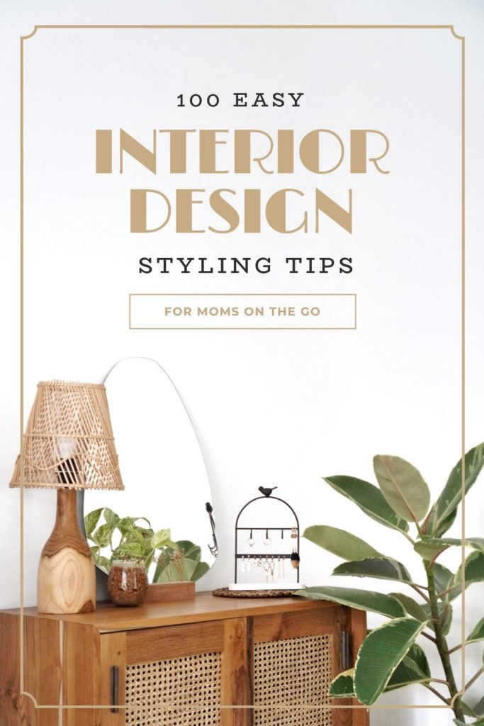 """Interior Design Tips Template! Click through to start designing with our NEW """"Hack Visual Design Series"""": Pinterest Templates 10 Ways"""