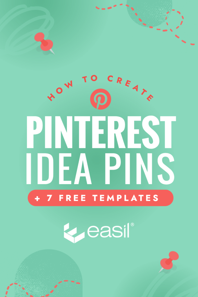 How to Create Pinterest Idea Pins + 7 Free Templates from Easil - Green & Red graphic by Easil