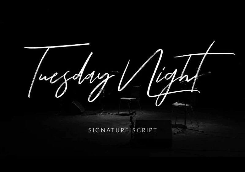 Tuesday Night Font - 93 Best Free Fonts to Create Stunning Designs