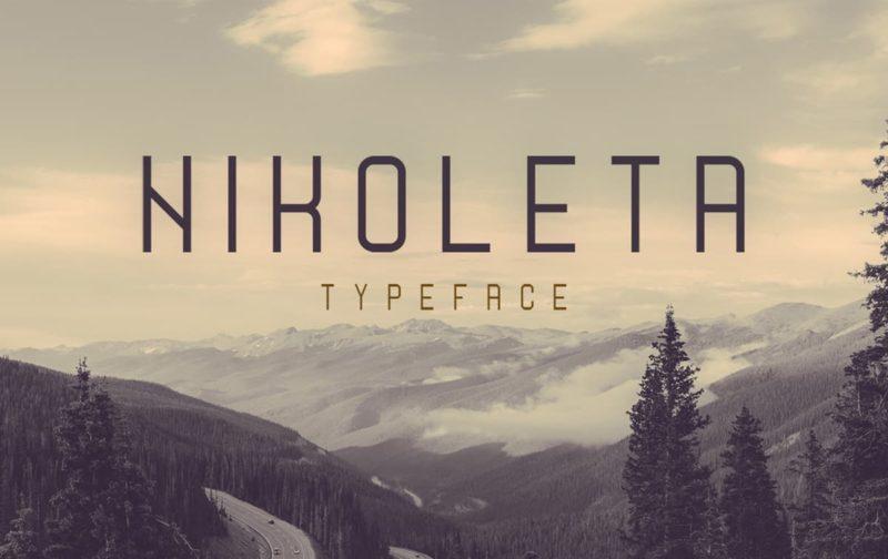 Nikoleta Free Font - 93 Best Free Fonts to Create Stunning Designs