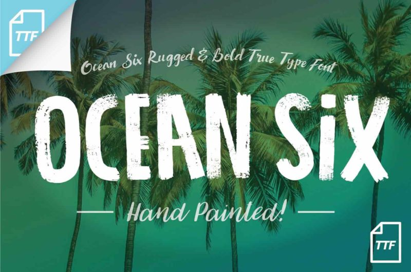Ocean Six Free Font - 93 Best Free Fonts to Create Stunning Designs