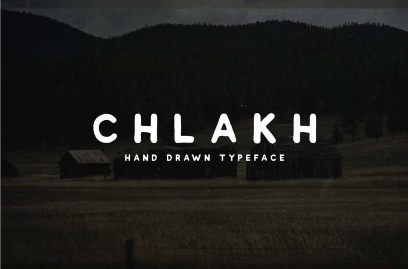 Chlakh Free Font - 93 Best Free Fonts to Create Stunning Designs