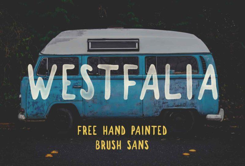Westfalia Free Font - 93 Best Free Fonts to Create Stunning Designs