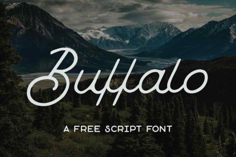 Buffalo Free Script Font - 93 Best Free Fonts to Create Stunning Designs