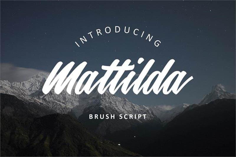 Mattilda Font - 93 Best Free Fonts to Create Stunning Designs