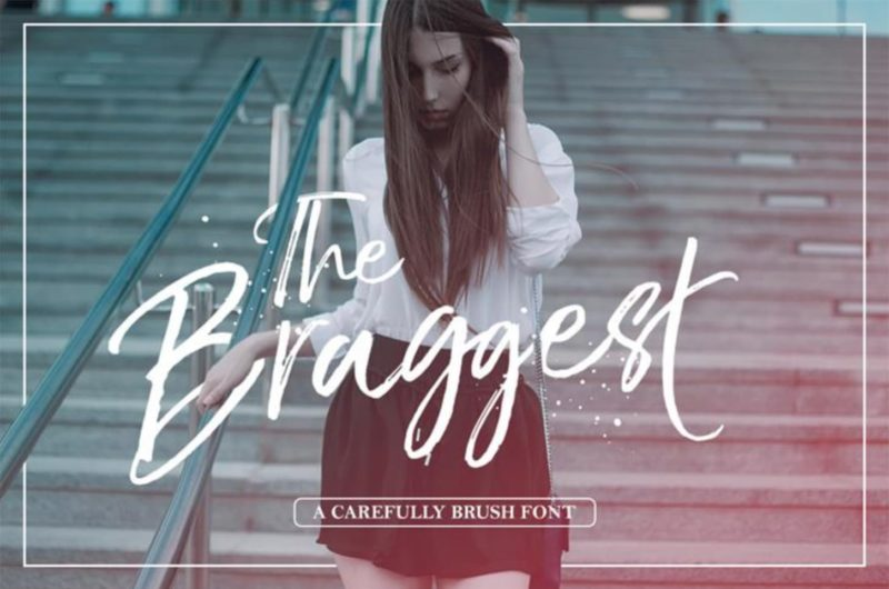 The Braggest Free Font - 93 Best Free Fonts to Create Stunning Designs