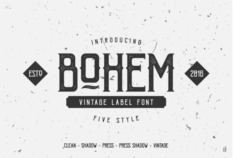 Bohem Vintage Label Free Font - 93 Best Free Fonts to Create Stunning Designs