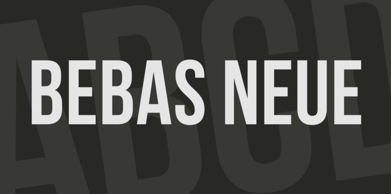 Babas Neue Free Font - 93 Best Free Fonts to Create Stunning Designs