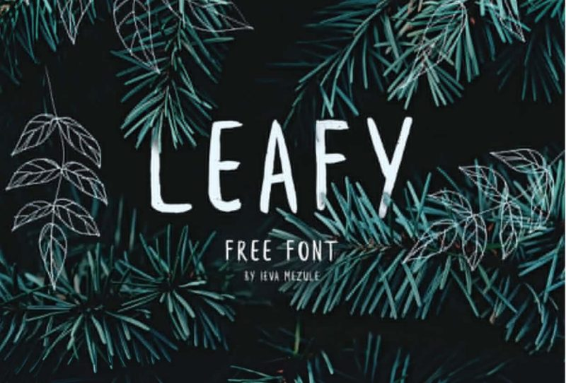Leafy Free Font - 93 Best Free Fonts to Create Stunning Designs
