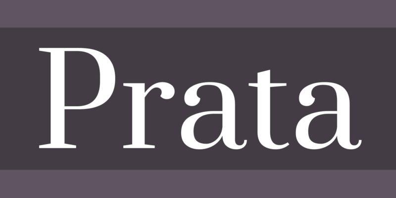 Prata Free Font - 93 Best Free Fonts to Create Stunning Designs
