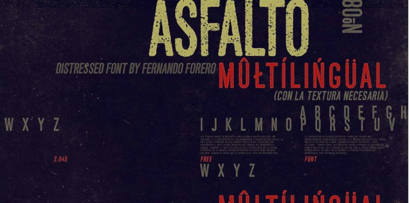 Asfalto Free Font + 93 Best Free Fonts to Create Stunning Designs