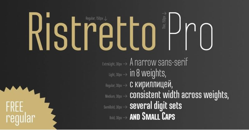 Ristretto Pro Font - 93 Best Free Fonts to Create Stunning Designs