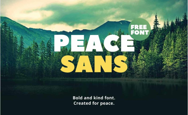Peace Sans Font - 93 Best Free Fonts to Create Stunning Designs