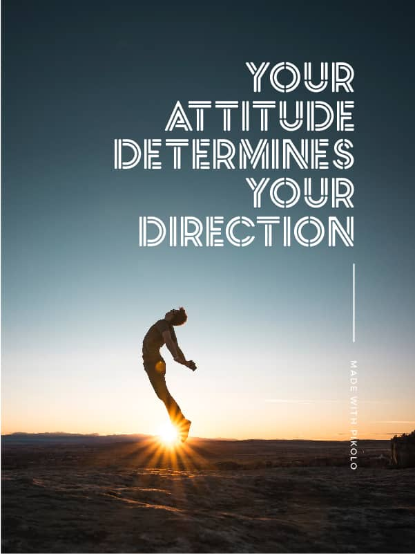 Quote made with Pikolo Free Font - Your attitude determines your direction - 93 Best Free Fonts to Create Stunning Designs