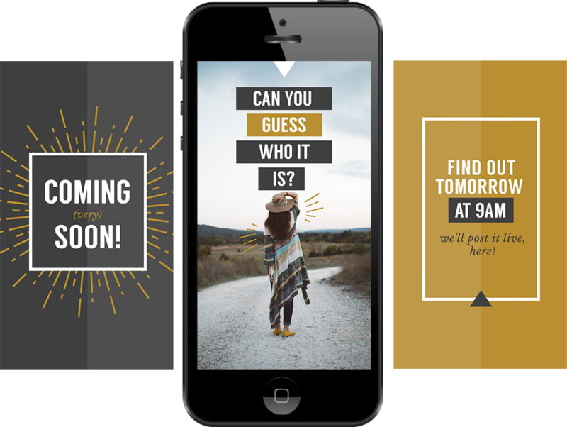 Free Instagram stories template for Coming soon announcement