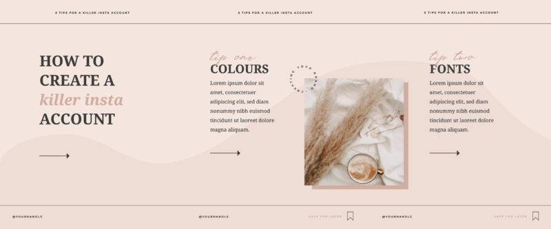 Free Carousel Post Templates - Blush & Neutral Tones Template 1 of 2