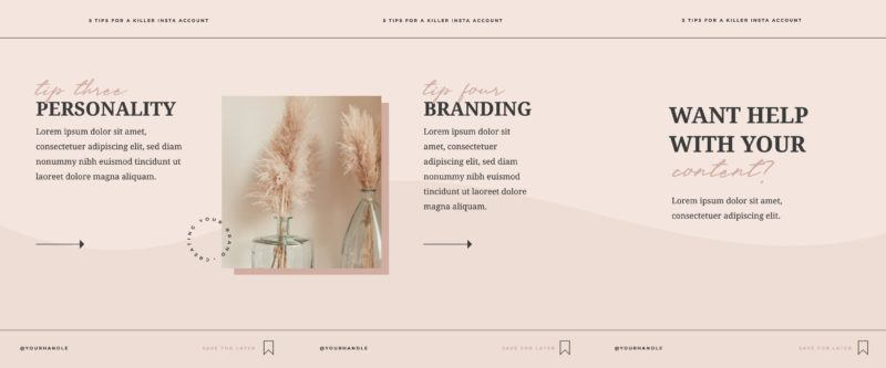 Free Carousel Post Templates - Blush & Neutral Tones Template 2 of 2
