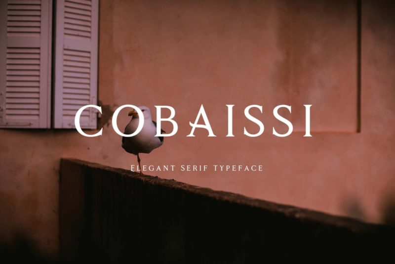 Cobaissi Font - 93 Best Free Fonts to Create Stunning Designs