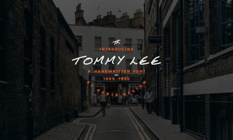 Tommy Lee Font - 93 Best Free Fonts to Create Stunning Designs
