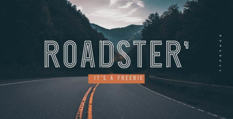 Roadster Font - 93 Best Free Fonts to Create Stunning Designs
