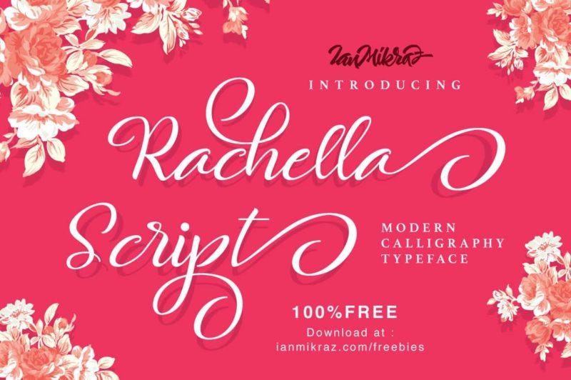 Rachella Script Font - 93 Best Free Fonts to Create Stunning Designs