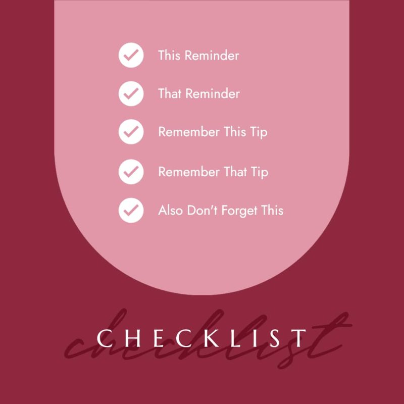 Checklist template for social media engagement
