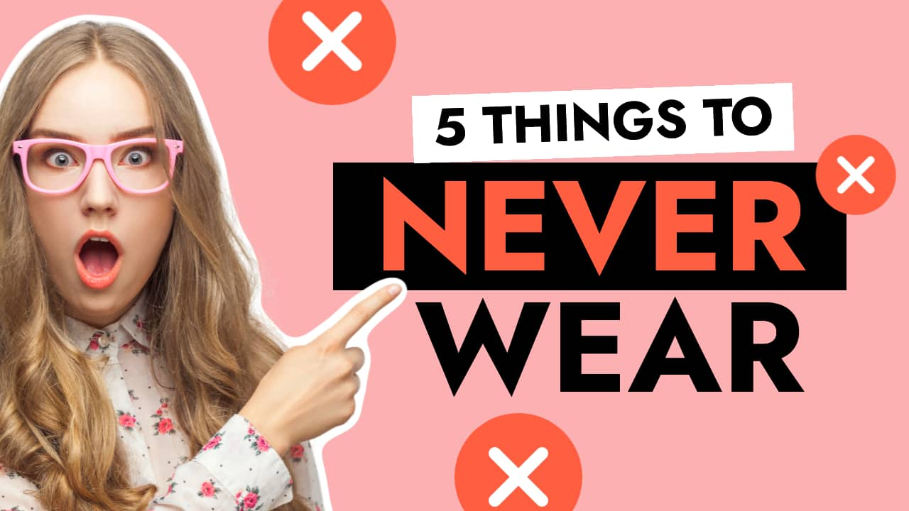Easil Free YouTube Thumbnail Template - 5 Things to Never Wear