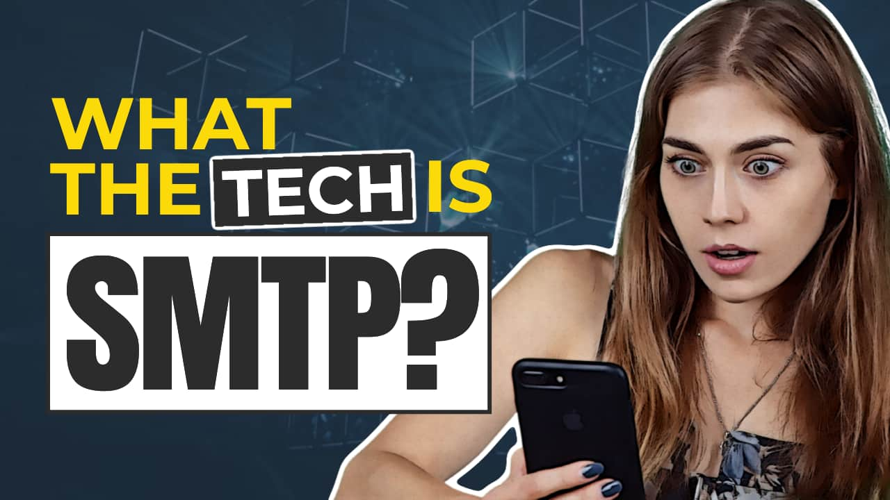 Easil Free YouTube Thumbnail Template - What the Tech is SMTP?