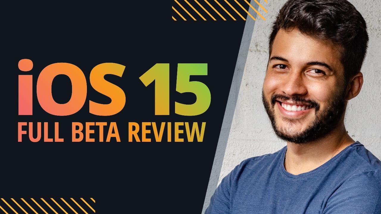 Easil Free YouTube Thumbnail Template - iOS 15 Full Beta Review