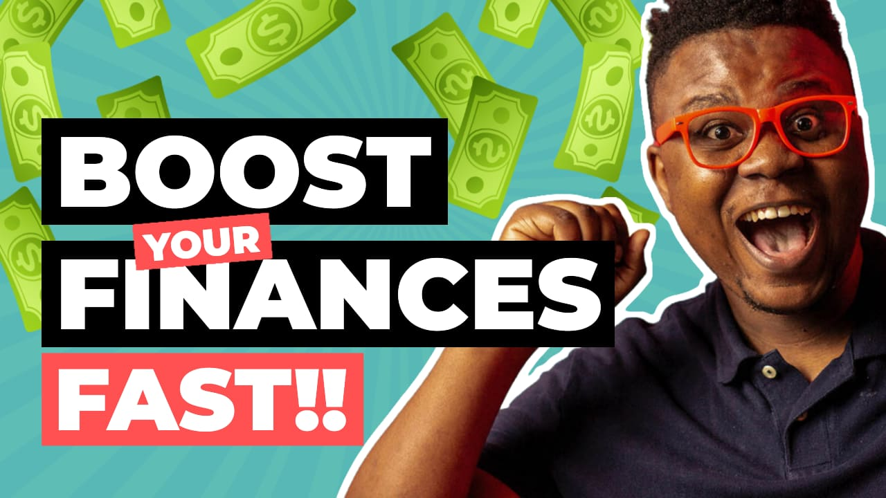 Easil Free YouTube Thumbnail Template - Boost your finances fast!