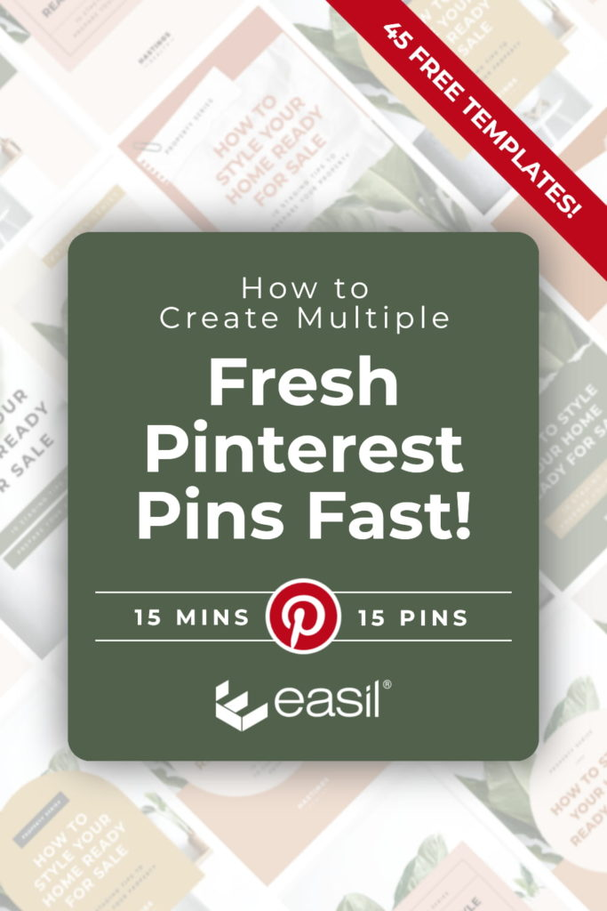 Create Fresh pins faster than ever with these 45 free templates. Learn how in this article. (Pinterest Graphic header image)